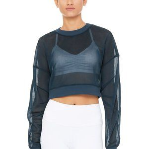 Alo Yoga Row Long Sleeve Top in Eclipse M